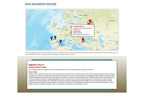 DNA migration routes map