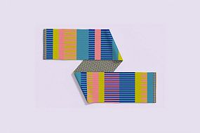 Striped DNA scarf