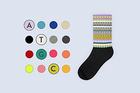 DNA striped sock ATGC