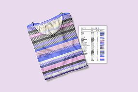 Folded DNA striped t-shirt
